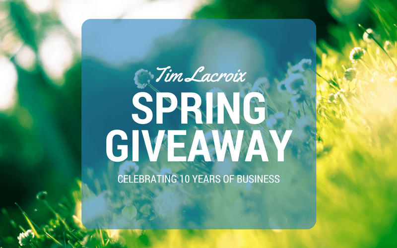 Tim Lacroix - celebrating 10 years of business - giveaway (1)