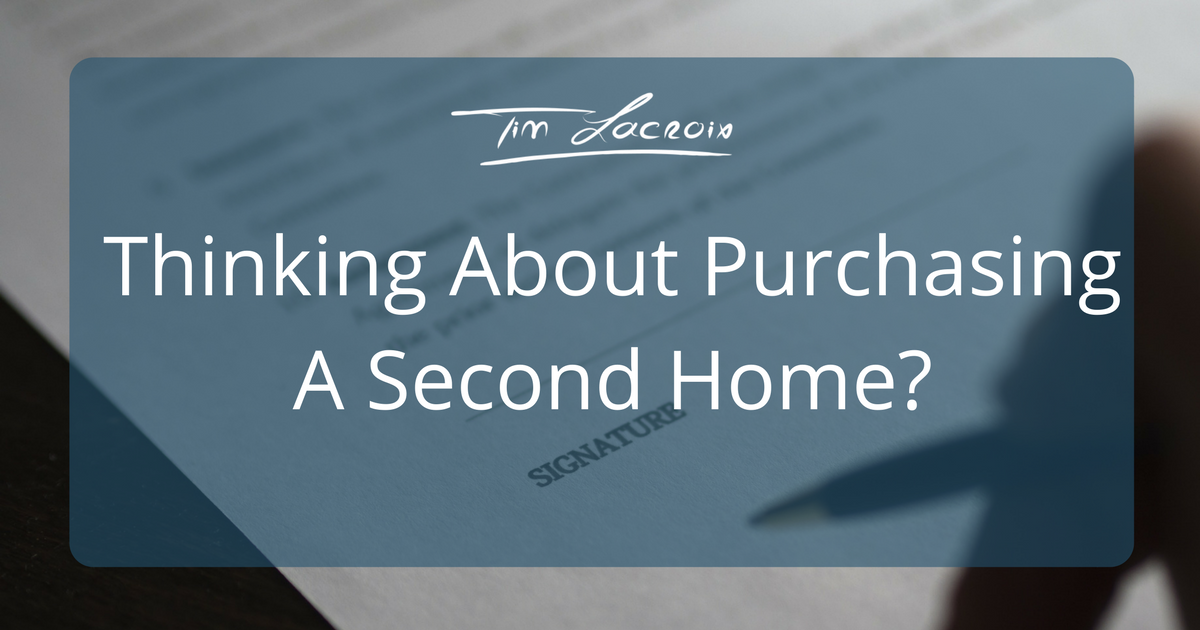 Purchasing a Second Home